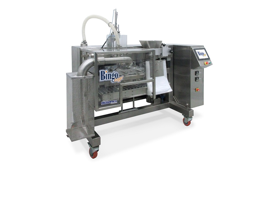 Bingo bagger side view machine for bagging product