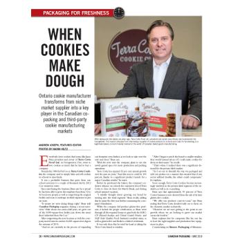Terra Cotta Cookies packaging machinery article