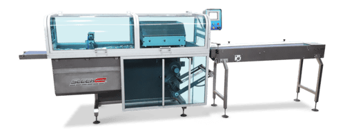 Flow wrapping machine for meal kits