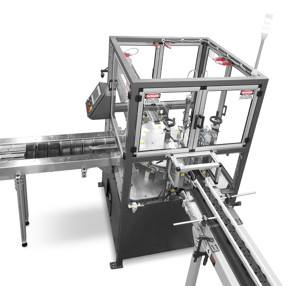 Carton forming and container filling machine for cannabis automation