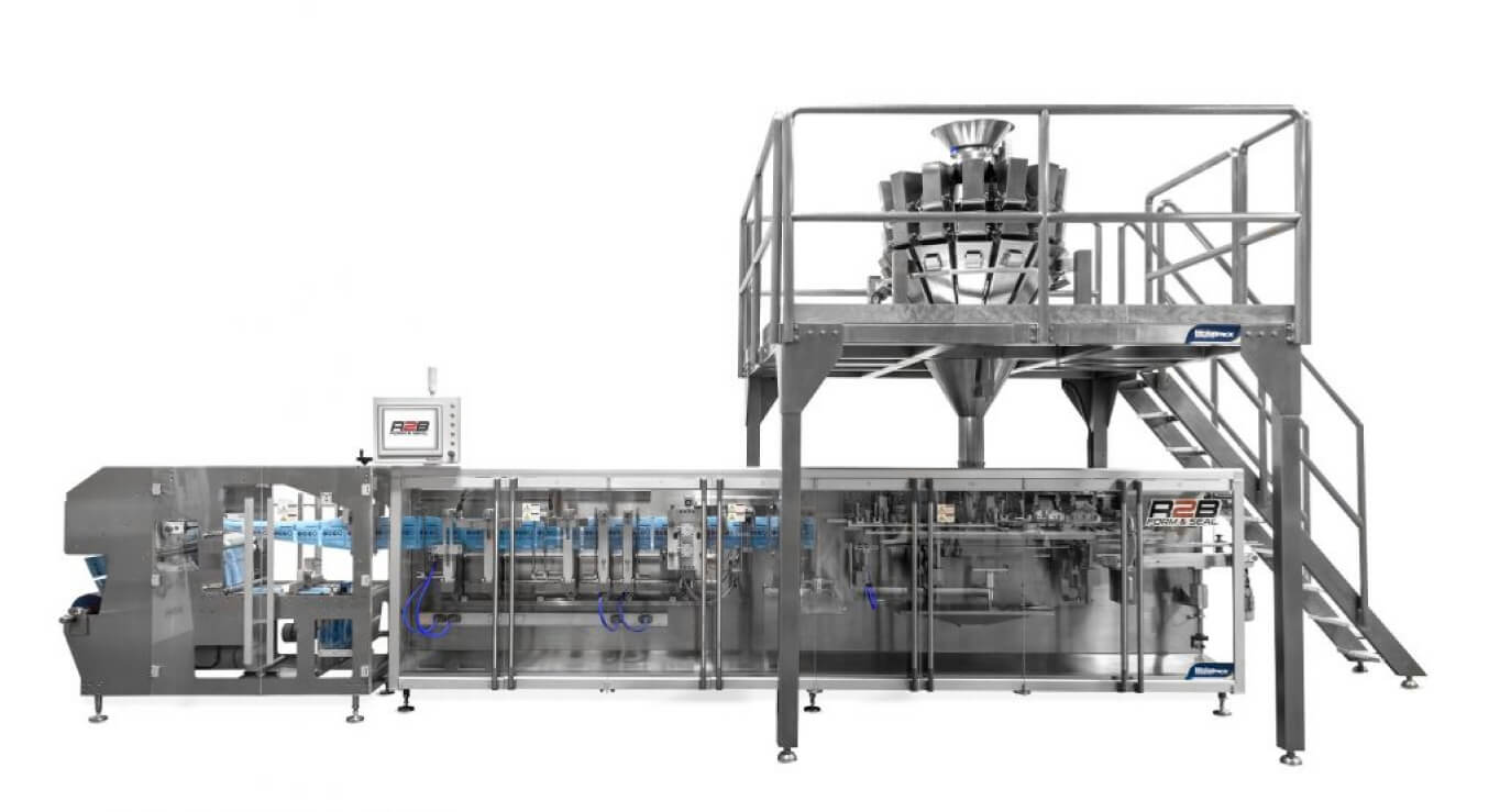Horizontal high speed bagging forming and filling machine with weigh filling for packaging