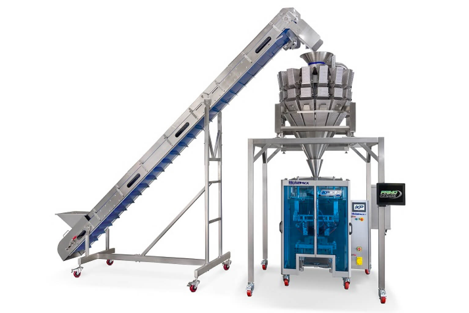 Multihead weigher with vertical form fill and seal machine