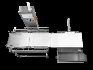 Weighing machine conveyor top view image